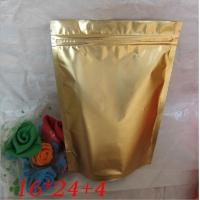 China Moisture proof Gold Stand Up Foil Pouches Reclosable zipper doypack wholesale