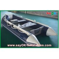 China Rigid Hull Fiberglass Small Inflatable Boats With Heavy Duty Aluminum Floor on sale