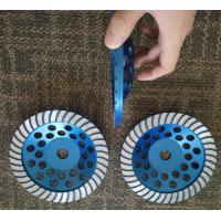 """China 7"""" Turbo Cup Wheel Diamond Grinding Disc For Concrete and Stone Grinding wholesale"""