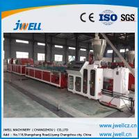 China Jwell  PE PP WPC  profile extrusion line for wood tray, indoors and outdoors floor wholesale