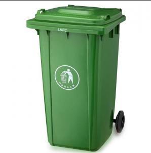 China 120L/240L Garbage bin with 2 wheel in virgin plastic material garbage bin with wheels wholesale