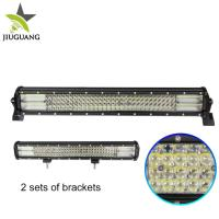 China 23 Inch 396 W Auto Led Light Bar 10000 Lumen Four Row Convex Mirror on sale