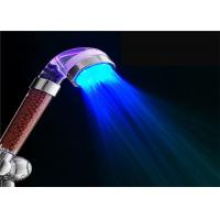 China Hand Held 3 Colors Shower Head With Color Changing LED Light Automatically on sale