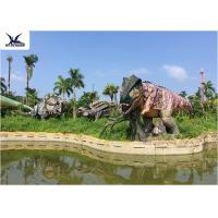 China Lifesize Giant Colorful T Rex Lawn OrnamentFor Game Center 110 V / 220A wholesale