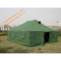 China Outdoor Pole-style Galvanized Steel Waterproof Canvas Military Tent wholesale