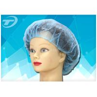 China Disposable surgical  bouffant cap , made from SPP fabric , blue color , various size on sale