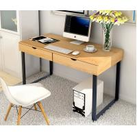 China Commercial Furniture Home Office Computer Desk With Hutch Chrome Printing wholesale