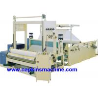 China Full Automatic Paper Roll Slitting Rewinding Machine For Napkin / Facial Tissue wholesale