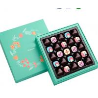 China Handmade Afternoon Tea / Moon Cake Gift Chocolate Packaging Box , Hot stamping golden Chocolate Gift on sale