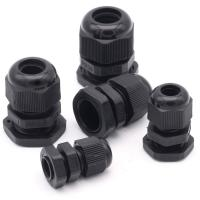 China Water Proof Outdoor Cable Accessories , Black Cable Gland Connector wholesale