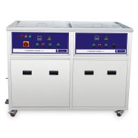 Power Heater Dual Tanks Industrial Ultrasonic Cleaner Drying , ultrasonic cleaning equipment