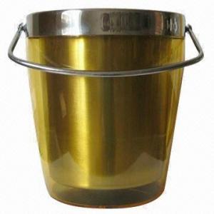 China Double Wall Ice Bucket with Handle wholesale