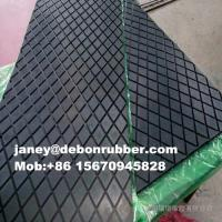 China Cold bond Diamond pattern rubber lagging,pulley lagging rubber sheets on sale