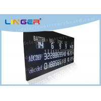 China Multi Purpose LED Baseball Scoreboard Remote Control With Time Function wholesale
