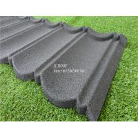 China Fireproof Stone Chips Coated Step Metal Roof Tile , Aluminium Zinc Roofing Tile Color Roof wholesale