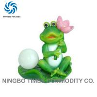 China Solar Powered Frog Garden Lights , No Pollution Resin Decorative Solar Lanterns wholesale