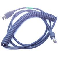 China 15ft Coiled USB Barcode Scanner Cable for Symbol LS2208 wholesale