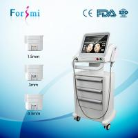 China 3 handles 10 thousands shots non invasive wrincle removal Hifu Face Lift Machines for sale on sale