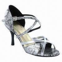 China Latin dance shoes with long strap go under shoes, made of PU wholesale