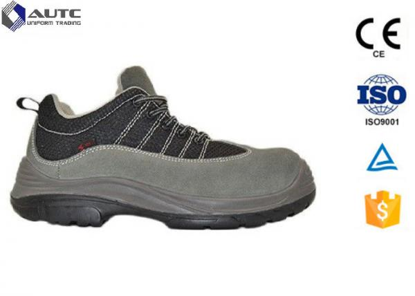 Quality Black Worksite Steel Toe Work Boots , Steel Toe Dress Shoes For Men Smooth Leather for sale