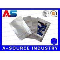Custom Private Vial Label , Aluminum ZipLock Pouch With Label Sticker Hologram