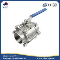 High quality 3pcs stainless steel threaded type ball valve for water gas oil