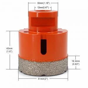 China Vacuum Brazed Diamond Core Drill Bit 2 Inch Diameter For Concrete / Granite wholesale