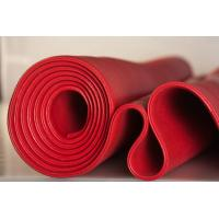 China Red Solid Platinum Cured Silicone Sheet Textured Finish For Food Processing Industries wholesale