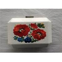 China National Style White Embroidered Bag Fabric Material With Break Open Closure on sale