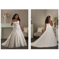 Elegantly A Line Chiffon Wedding Dress , Long Big Ball Gown Wedding Dresses