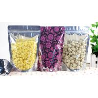 China Resealable Pistachio Nuts Aluminum Foil Packaging Bags One Side Clear wholesale