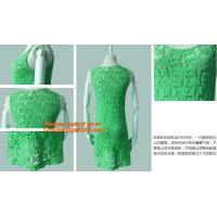 China Casual Fashion, Vintage O-Neck, Sleeveless, Women Long Crochet, Chiffion Blouse Plus Size wholesale
