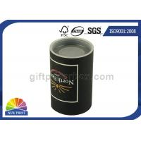 Custom Logo Imprint Plastic Cap Paper Can Packaging , Cardboard Tube Containers