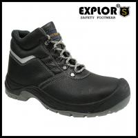 China Ladies safety shoes with steel toe work shoes for men and women black boots wholesale