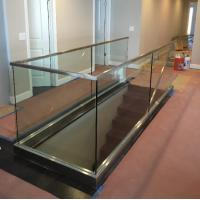 China Interior Glass Railing Systems With Toughened Glass Panel And U Channel Base wholesale