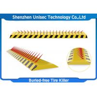 Buy cheap Yellow Color Tyre Spike Barrier / Killer Waterproof Function , Stainless Steel from wholesalers