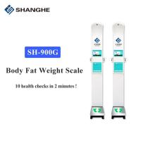 China Gym And Fitness Ultrasonic Pulse 10.1'' Weight And Height Scale wholesale