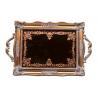 China Red Copper Rectangular Mirror Vanity Tray / Printing Antique Mirror Tray Vanity wholesale