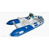 China Blue Small Rib Boat 3.5m PVC Chemical Resistance With Sporty Wide Body Frame wholesale