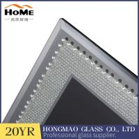 China Table Top Display Glitter Glass Photo Frame 180*230*15MM With Matte Button wholesale