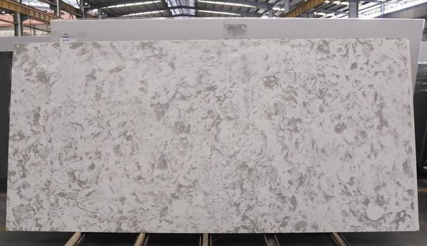 Quality Lightweight Quartz Kitchen Worktops , White Engineered Quartz Countertop Slabs for sale