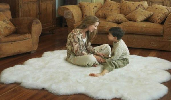 rabbit fur rug images.
