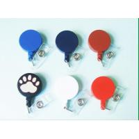 China 32mm Plastic Retractable Id Badge Holder /Customized design 80mm length Yoyo Card Holder For Gifts on sale