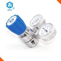 China Used in laboratory co2 nitrogen semiconductor wall panel mounting diaphragm SS316 L pressure reducer with two gauges on sale