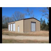 China Easy Assembled Prefab Steel Frame Storage Buildings With Aluminum Windows wholesale