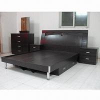 Bedroom Set, 1,500 x 1,900mm, Available in Black Walnut Color, Made of MDF and PVC Vacuum