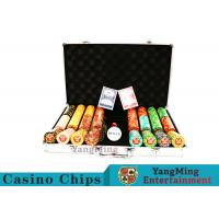 Texas Poker Chip Set / 11.5g Clay Casino Chip With Aluminum Case for sale