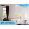 China Flocking Modern Striped Wallpaper ,Silver Brown Bright Modern Wallpaper Geometric wholesale