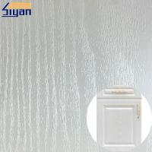 China White Pvc Wood Grain Film , Decorative Pvc Membrane Sheet For Furniture on sale