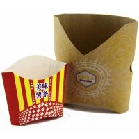 China custom printed foldable takeaway paper food grade chicken and french fries chips paper box,potato chip french fries pack wholesale